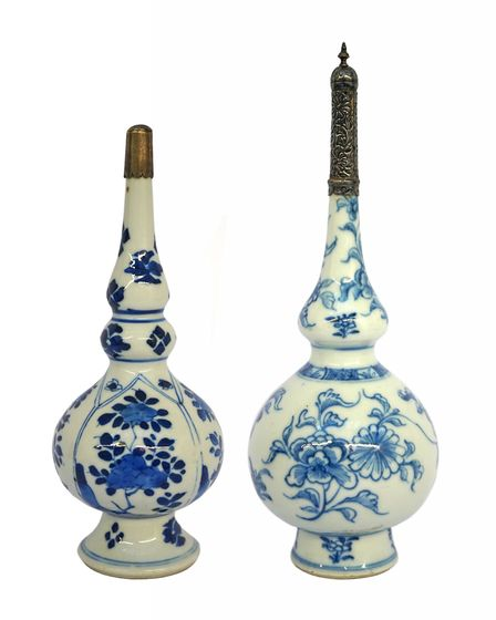 Chinese rose water sprinkers from the Kangxi period, on sale at AlFayez, located in the ground floor