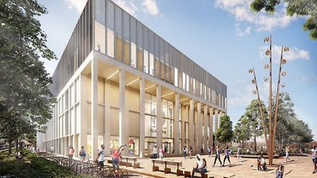 The proposed new leisure centre. Picture: Hackney Council