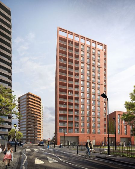 An artist's impression of the controversial 16-storey block Anthology is objecting to. Picture: Hack