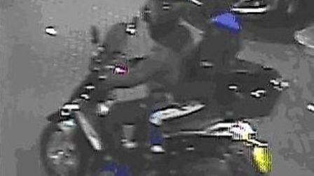 CCTV image of moped riders