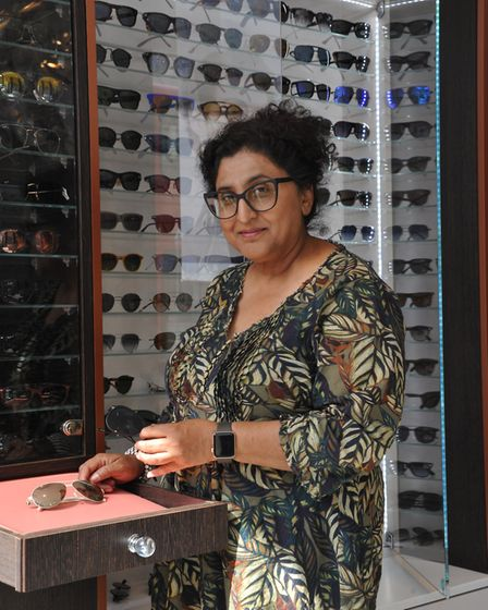 Rohini Jansari, the owner of A View opticians in Crouch End. Picture: David Winskill
