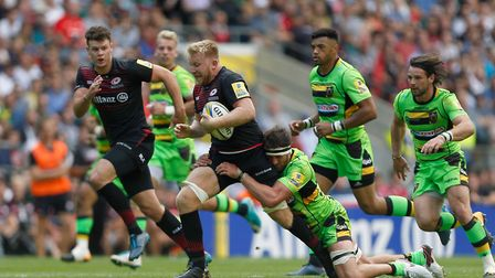 Saracens beat Northampton Saints 55-24 on the opening day of last season (pic: Paul Harding/PA)