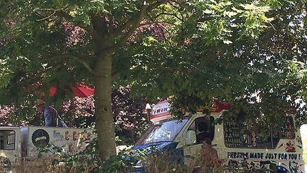Ice Cream sellers on the edge of Hampstead Heath were caught in a dispute over who could trade where