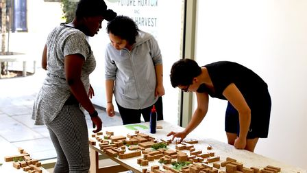 People have been invited to observe the model. Picture: Jan Kattein