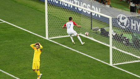 Croatia's Mario Mandzukic runs to collect the ball after scoring his side's second goal of the game