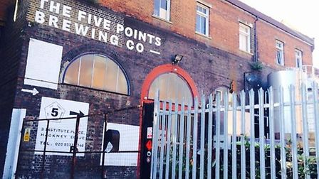 Five Points brewery in Institute Place. Picture: Emma Bartholomew