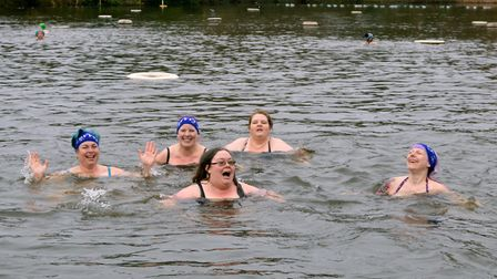 The Kenwood Ladies Pond Association New Year's Day swim. Picture: Polly Hancock