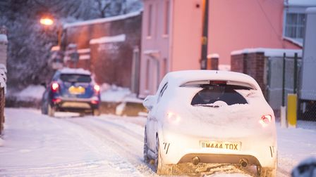 Snow in Beccles Picture: Nick Butcher