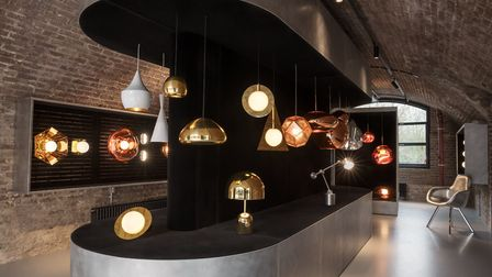The lighting retail space at Tom Dixon's new Kings Cross headquarters.