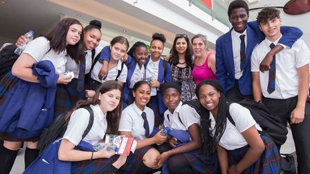 Students from Camden's Maria Fidelis school at UCL Hospital. Picture: Susan Smart / UCL Health Creat