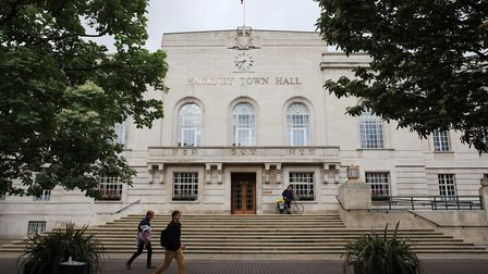 The tour starts at Hackney Town Hall