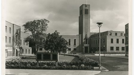 Hornsey Town Hall in the 1950s. Picture: Haringey Council