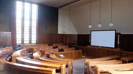 The disused council chamber at the town hall. Picture: David Winskill