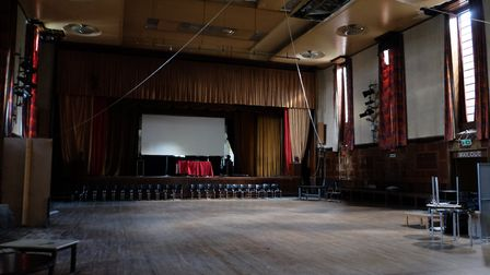 The empty, abandoned auditorium awaits renovation. Picture: Dave Winskill