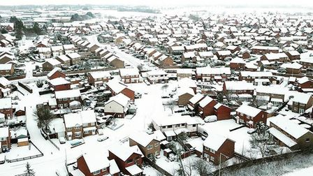 The Beast from the East has covered Lowestoft with a blanket of thick snow. Photo: Jeyan Chandra.