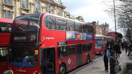 The 277 bus is being pemanently parked by TfL. Picture: HACKNEY COUNCIL