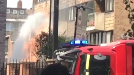 The fire in Kingsland Road. Picture: Rashaad Subratie