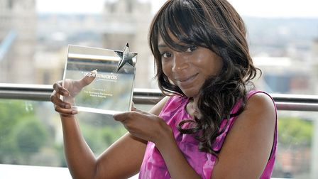 Youth Club leader Charlene McCook with the award. Picture: The Imageworks
