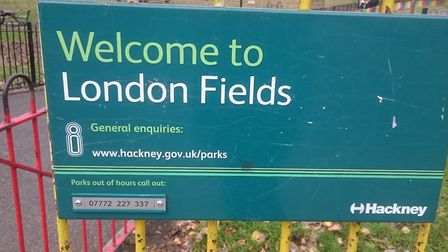 Barbecues have been banned in London Fields