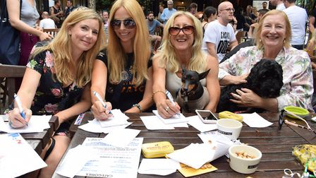 Judges Pip Tomson, Anneka Svenska, Anna Webb and Anne from Beautiful Joe's natural dog treats. Pictu