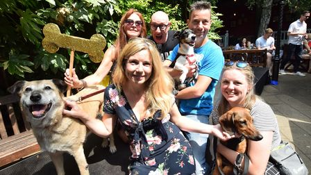The winners of 'Best Rescue' with judge, and Good Morning Britain presenter Pip Tomson - who also a
