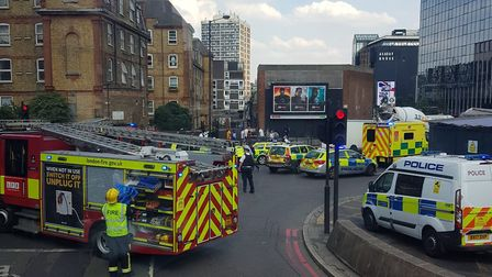 The aftermath of the collision in Old Street. Picture: Heather Deacon