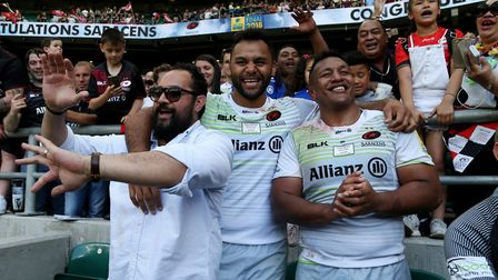 Billy Vunipola (middle) and brother Mako (right) have both extended their respective deals with Sara