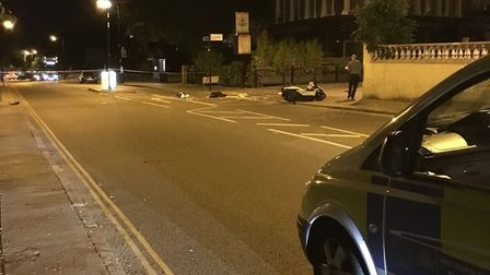 Green Lanes was taped off after the collision. Picture: @sgt_collett