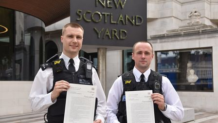 PCs George Anckorn and Russell Mellis