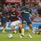 Aston Villa's Jack Grealish (left) and West Ham United's Sead Haksabanovic during a pre season frien