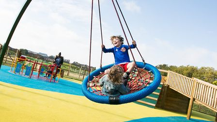 Kids enjoying themselves at Mabley Green. Picture: Gary Manhine