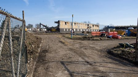 Work has started on the demolition of the former Zephyr Cams factory site in Lowestoft.Picture: Nick