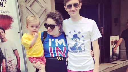 Francesca with her son Toby, and husband Andrew. Picture: Francesca O'Neill