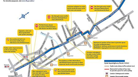 The original CS1 plans that were put out to consultation in February 2015 - including two options fo