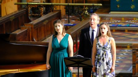 Tell Me The Truth About Love featured a quartet of singers, with Chris Hopkins on piano