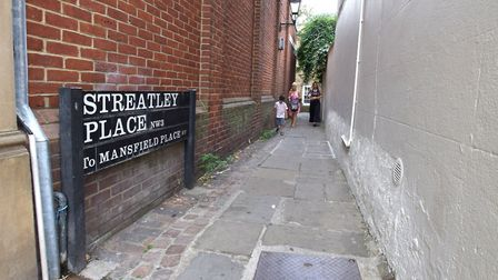 The entrance to Streatley Place as seen from Heath Street, Hampstead. Picture: Polly Hancock