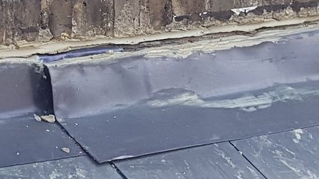 Gavin Watson's roof after the most recent work to fix the problem. Picture: Gavin Watson