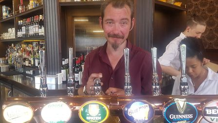Aaron Woodman, the new manager of the Steeles pub