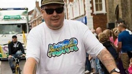Peter Lang before losing six stone. Picture: Courtesy of Peter Lang.