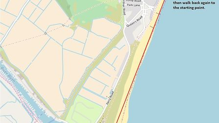 The walk will run from the Harbour Quay East car park to the fifth wooden groyne past the Gunhill Be