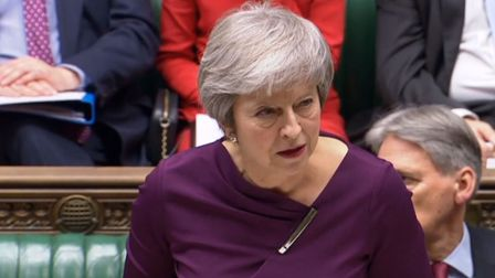 Theresa May giving a statement to MPs in the House of Commons. Photograph: PA Wire.