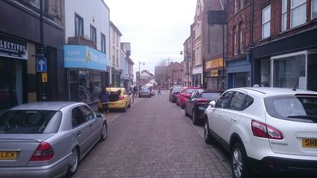 'Fly-parking' on Lowestoft's High Street. PICTURE: DA