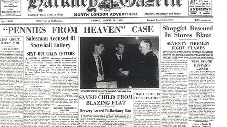 August 8, 1958 edition of the Hackney Gazette.