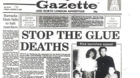 August 5, 1988 edition of the Hackney Gazette.