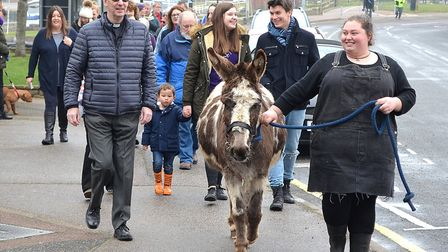 The Palm Sunday parade. Picture: Mick Howes