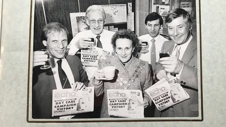 Betty at the Gazette offices during her year as mayor.