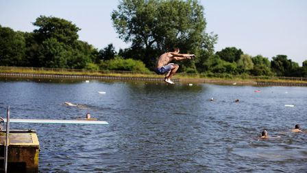 Swimmers at The Men's Pond. Picture: Richard Lea-Hair (City of London Corporation)