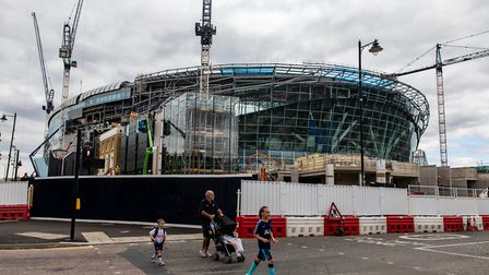 A general view of the ongoing construction of the new Tottenham Hotspur Stadium (pic: Steven Paston/