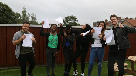 Students collecting their exam results at the Urswick School. Photo by the Urswick School