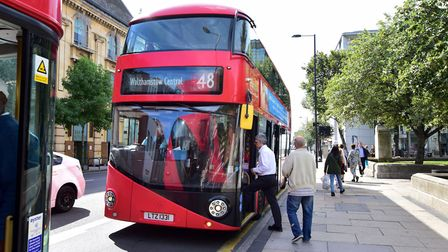 The 48 bus in Mare Street this week. Picture: Polly Hancock